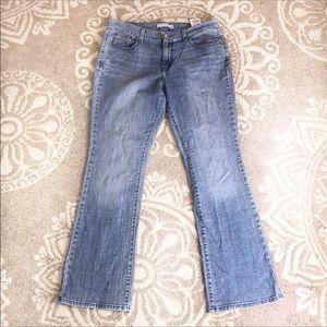 Levi's 515 12M light wash bootcut jeans